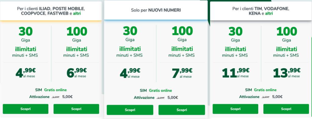 Le nuove offerte Very Mobile