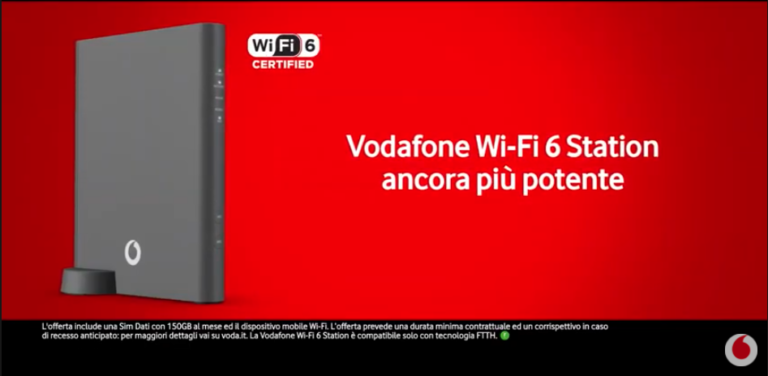 Vodafone Wi-fi 6 Station, Vodafone Casa Wireless New: i 7 giorni di Vodafone