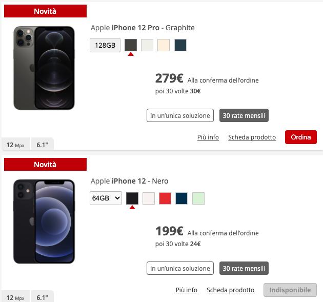 iPhone 12 Pro con iliad