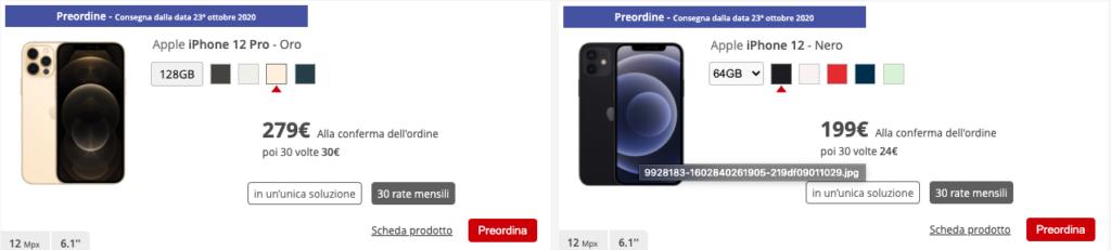 iphone 12 store iliad