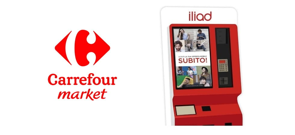 Simbox iliad Carrefour market Lombardia