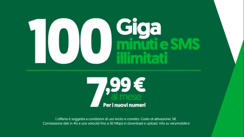 Spot Totti Very Mobile offerta