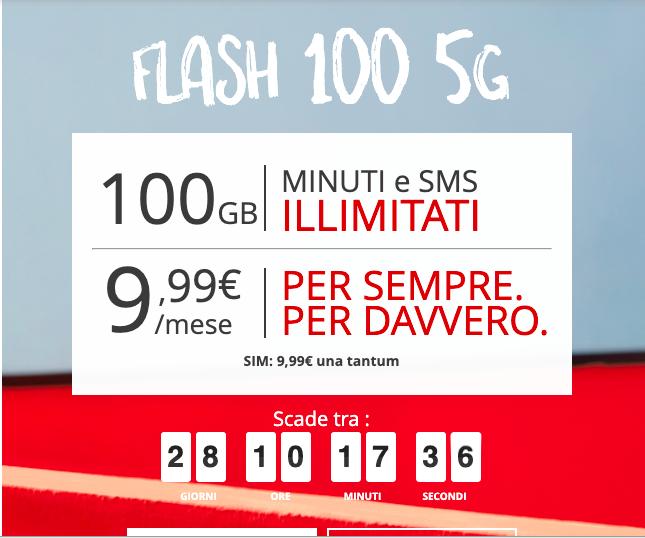 iliad offerta Flash 100giga